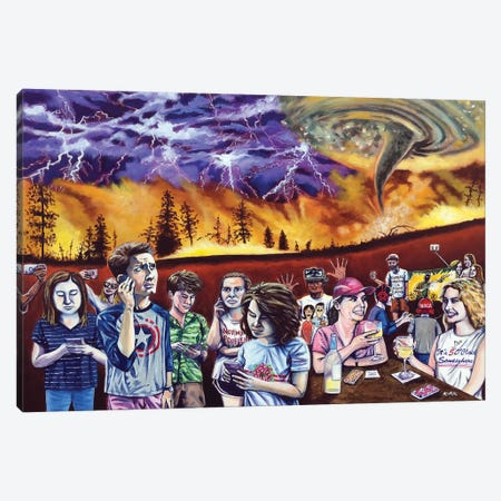 This Is Why The World Will End Canvas Print #JLK117} by Jerry Lee Kirk Canvas Artwork