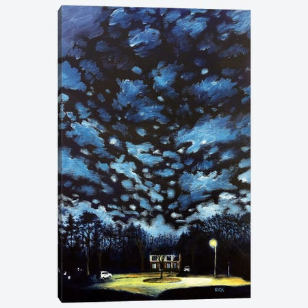 Night Falls on Suburbia Canvas Print #JLK119} by Jerry Lee Kirk Canvas Print