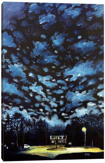 Night Falls on Suburbia Canvas Art Print