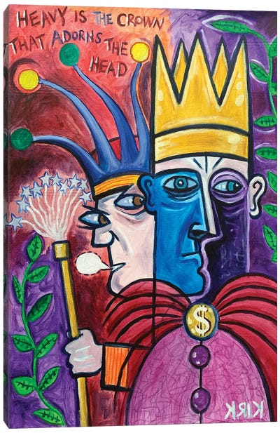 A King And His Jester Canvas Art Print