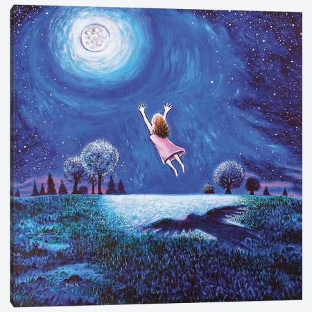 Big Moon Hug Canvas Print #JLK13} by Jerry Lee Kirk Canvas Art