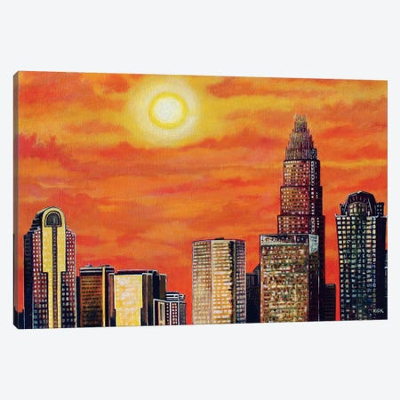 City In Golden Light Canvas Print #JLK19} by Jerry Lee Kirk Canvas Artwork