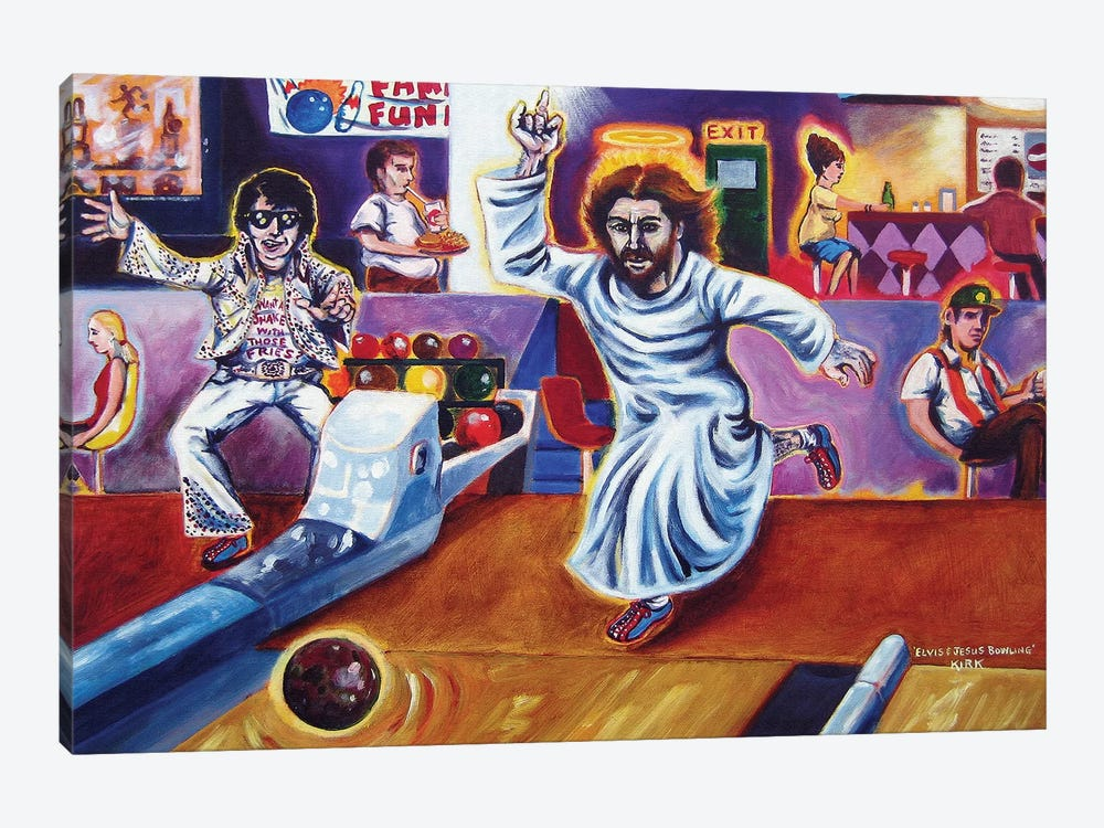Bowling for Jesus Stock Print on Classic Bowler
