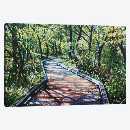 4 Mile Creek Greenway Canvas Print #JLK2} by Jerry Lee Kirk Canvas Wall Art