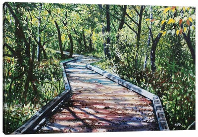 4 Mile Creek Greenway Canvas Art Print