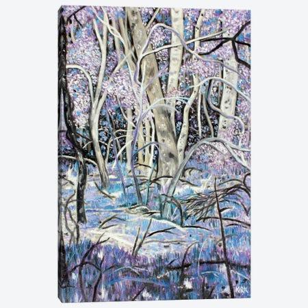 Lavender Woods 3-Piece Canvas #JLK41} by Jerry Lee Kirk Canvas Print
