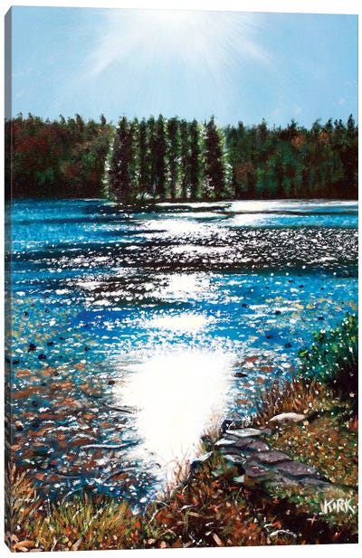 Light Shines On Basslake Canvas Art Print