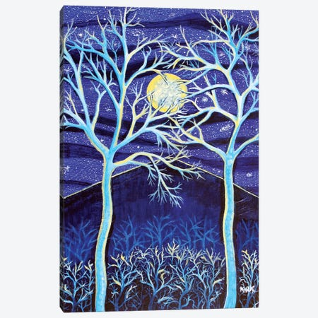 Midnight Mountain Canvas Print #JLK44} by Jerry Lee Kirk Canvas Artwork