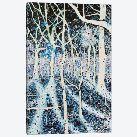 Moon Grants Shadows To Woods That Sing Canvas Print #JLK46} by Jerry Lee Kirk Canvas Artwork