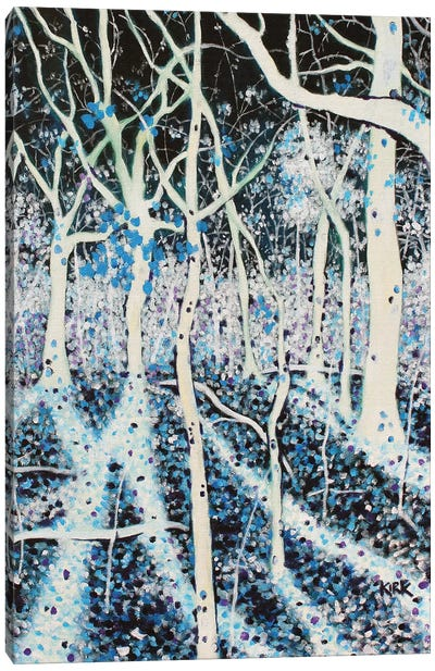 Moon Grants Shadows To Woods That Sing Canvas Art Print