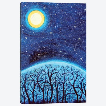 Moon Over The Mountain Canvas Print #JLK48} by Jerry Lee Kirk Canvas Art Print