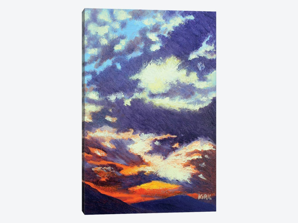 Mountain Sunset by Jerry Lee Kirk 1-piece Canvas Wall Art
