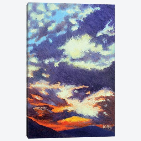 Mountain Sunset Canvas Print #JLK49} by Jerry Lee Kirk Canvas Print