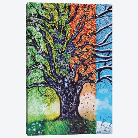 A Tree For All Seasons Canvas Print #JLK4} by Jerry Lee Kirk Canvas Art Print