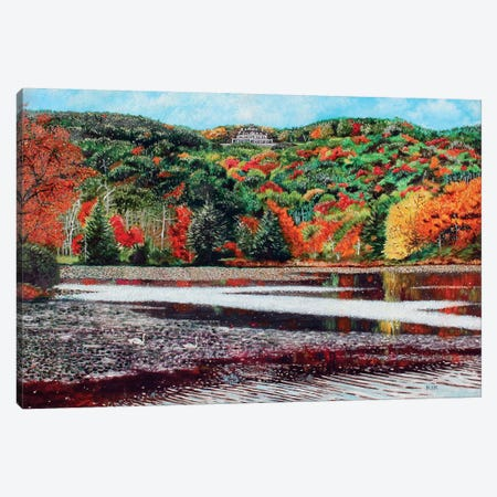 Overlooking Bass Lake Canvas Print #JLK51} by Jerry Lee Kirk Canvas Artwork