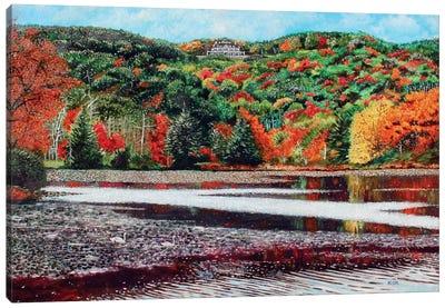 Overlooking Bass Lake Canvas Art Print