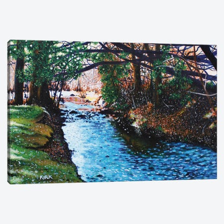 Slow Pull Of An Easy River Canvas Print #JLK56} by Jerry Lee Kirk Art Print