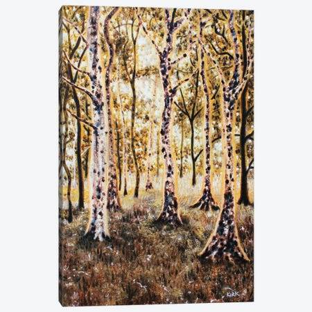 There's A Light Beyond These Woods Canvas Print #JLK75} by Jerry Lee Kirk Canvas Art Print