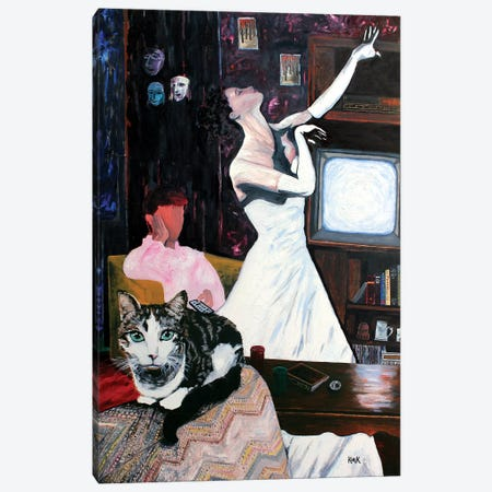 This Elegant Muse Canvas Print #JLK77} by Jerry Lee Kirk Canvas Print