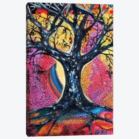 Tree In An Abstract Landscape Canvas Print #JLK78} by Jerry Lee Kirk Canvas Wall Art