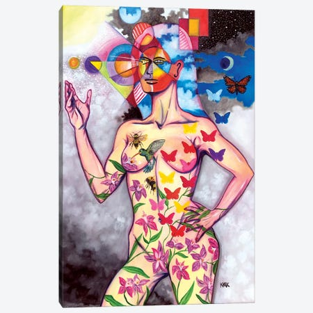 Evolution of Woman Into The Superior Being Canvas Print #JLK89} by Jerry Lee Kirk Art Print