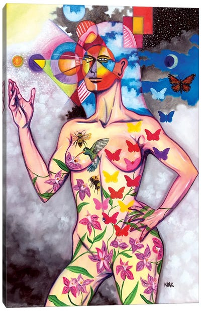 Evolution of Woman Into The Superior Being Canvas Art Print