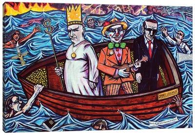 A KIng Clown and Businessman Canvas Art Print