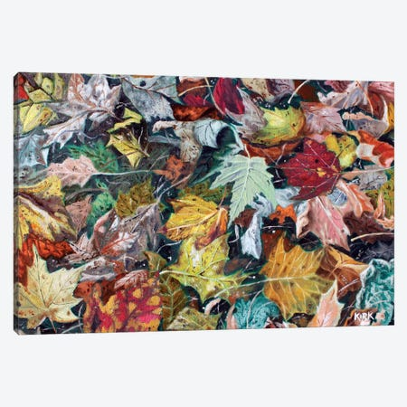 Autumn Debris Canvas Print #JLK96} by Jerry Lee Kirk Canvas Art Print