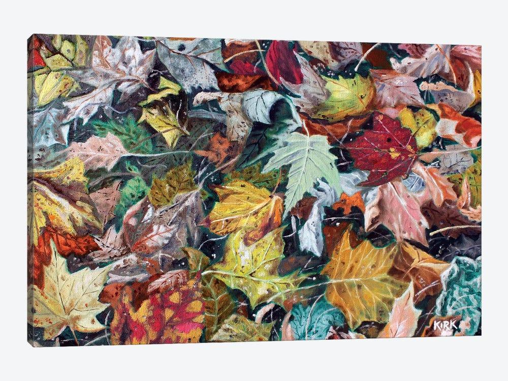 Autumn Debris by Jerry Lee Kirk 1-piece Canvas Wall Art