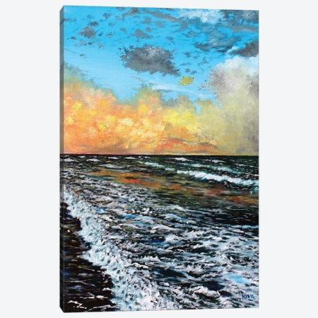Ocean Sunset 3-Piece Canvas #JLK98} by Jerry Lee Kirk Canvas Wall Art