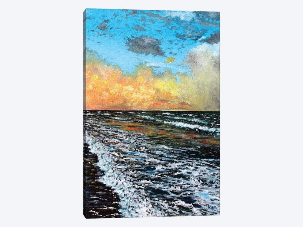 Ocean Sunset by Jerry Lee Kirk 1-piece Canvas Art