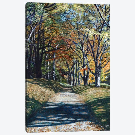 Autumn Trail Canvas Print #JLK9} by Jerry Lee Kirk Canvas Artwork