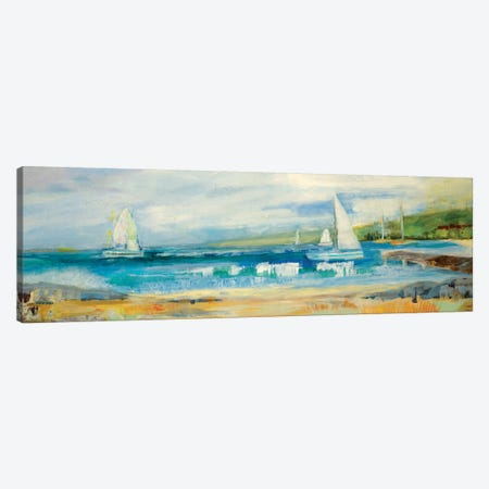 Seaside Harbor I Canvas Print #JLL33} by Jill Martin Art Print