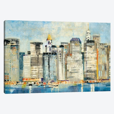 Waterfront Skyline Canvas Print #JLL36} by Jill Martin Canvas Art