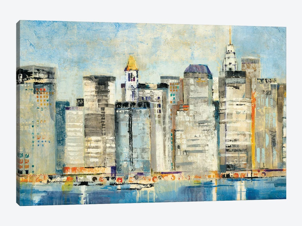 Waterfront Skyline by Jill Martin 1-piece Canvas Print