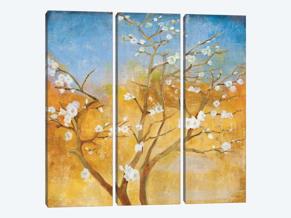 White Emanations by Jill Martin 3-piece Canvas Artwork