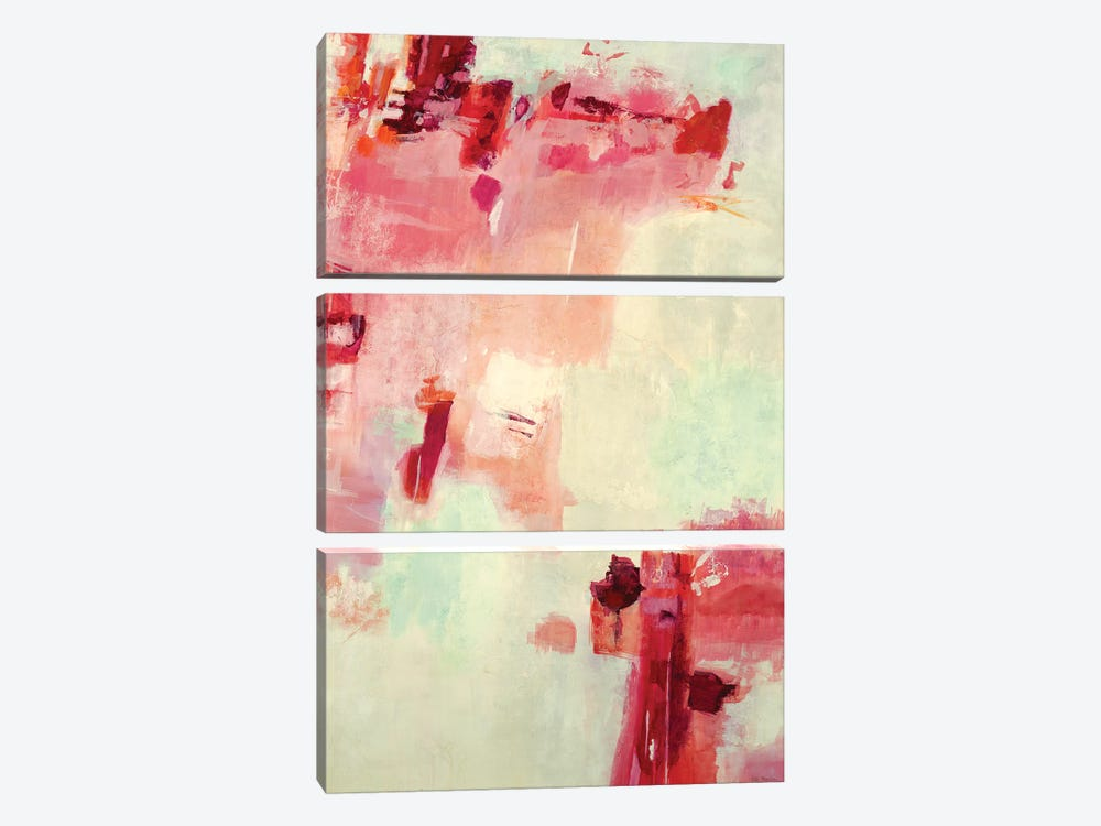 Red Algorithm I by Jill Martin 3-piece Canvas Print