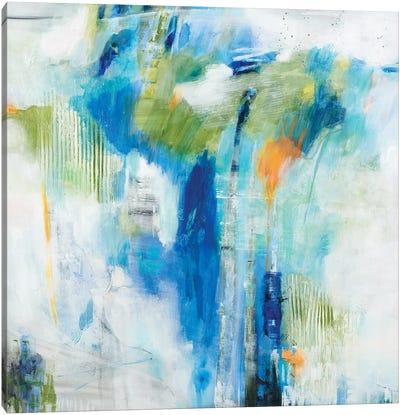Blue Logic Canvas Art Print