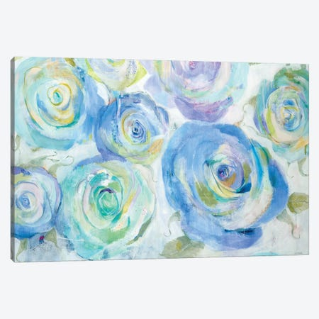 Blue Roses Canvas Print #JLL95} by Jill Martin Canvas Art