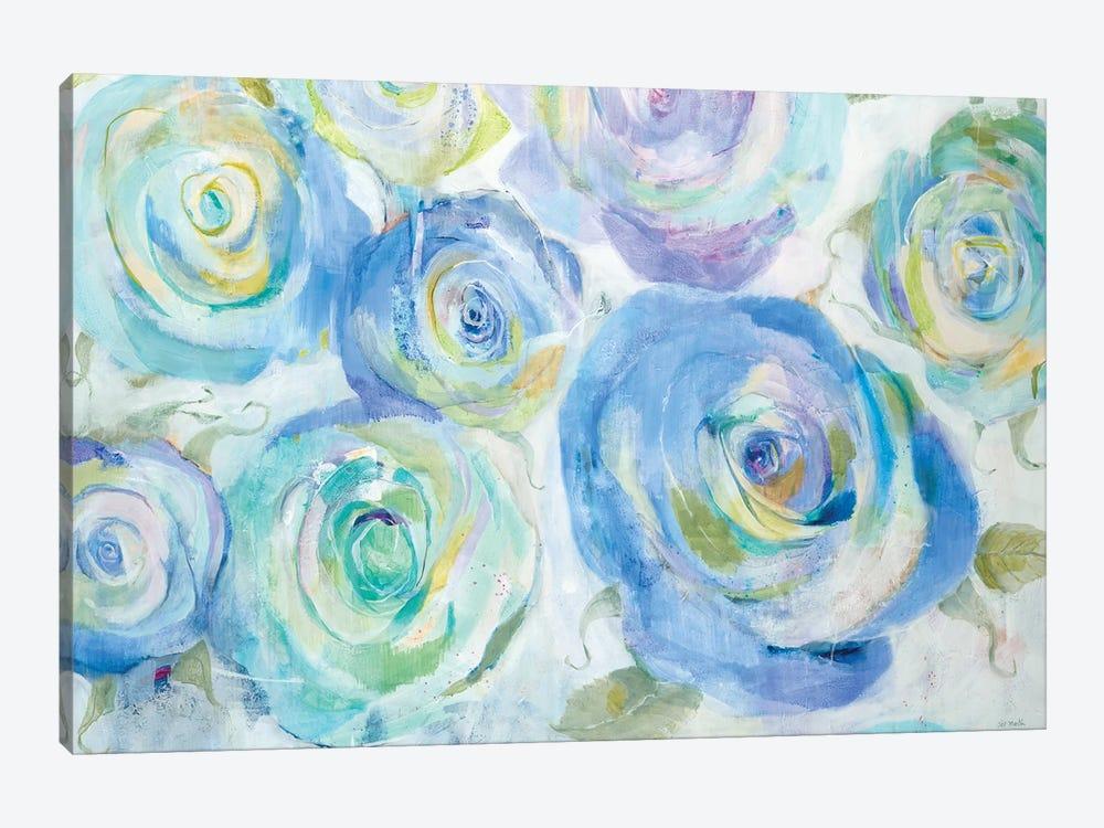 Blue Roses by Jill Martin 1-piece Canvas Artwork