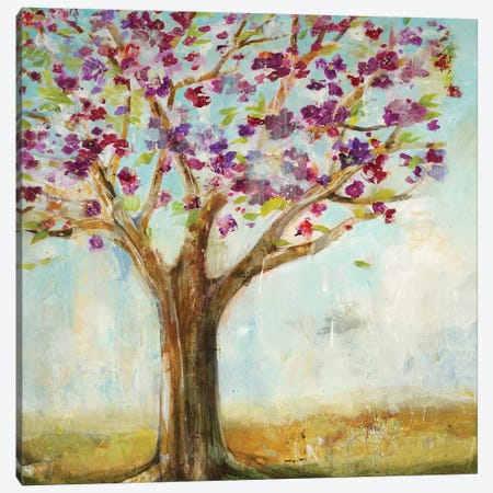Burgundy Tree Canvas Print #JLL97} by Jill Martin Canvas Artwork