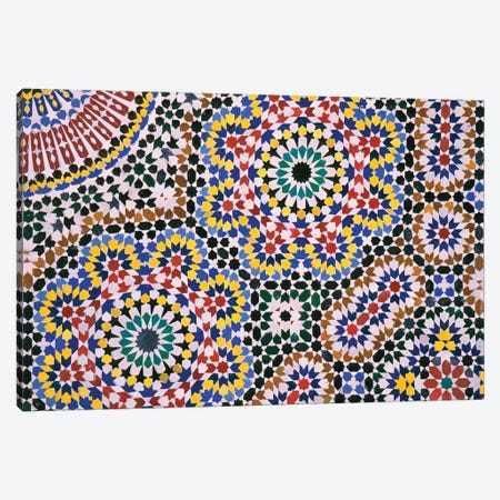 Zellij Floor Canvas Print #JLM1} by Merrill Images Canvas Wall Art