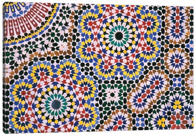 Zellij Floor Canvas Art Print