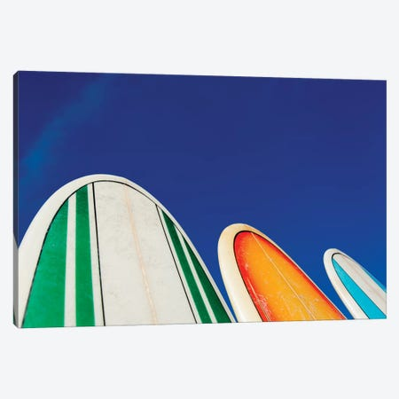 Mexico, Baja California, Baja de Sur, Cerritos Beach, surfboard rental shop. Canvas Print #JLM4} by Merrill Images Canvas Print