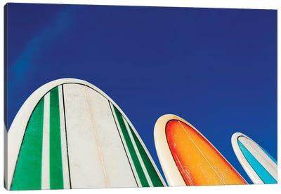 Mexico, Baja California, Baja de Sur, Cerritos Beach, surfboard rental shop. Canvas Art Print