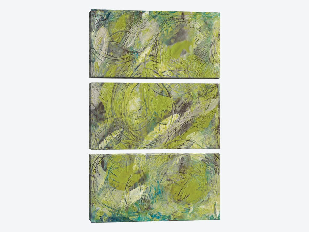 Citron Circuit II by J. Holland 3-piece Canvas Art