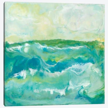 Turquoise Sea I Canvas Print #JLN15} by J. Holland Canvas Artwork