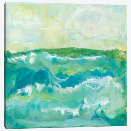 Turquoise Sea I Canvas Print #JLN15} by J. Holland Canvas Artwork