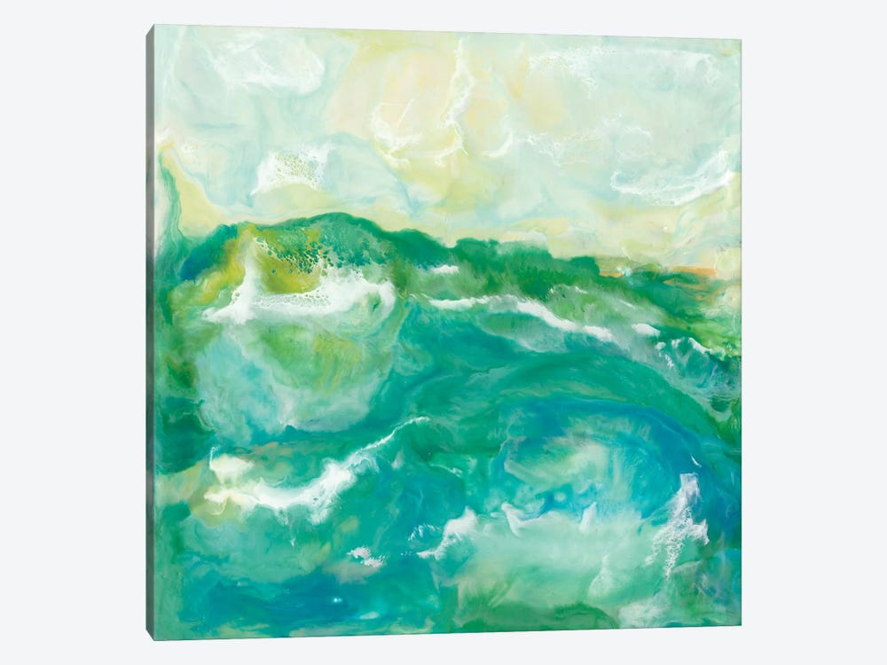 Turquoise Sea II by J. Holland 1-piece Canvas Art