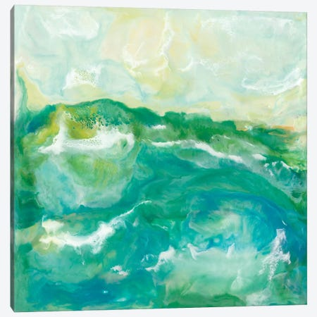 Turquoise Sea II Canvas Print #JLN16} by J. Holland Canvas Art